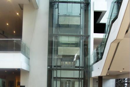 بدون تروس الجر آلة منخفضة الضوضاء مختلف التكوينات الاختيارية مصعد بانورامي