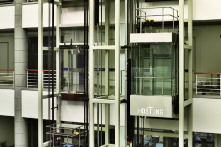 معالجة عالية السرعة للمعلومات والتحكم الدقيق في الغرفة بدون مصعد بانورامي